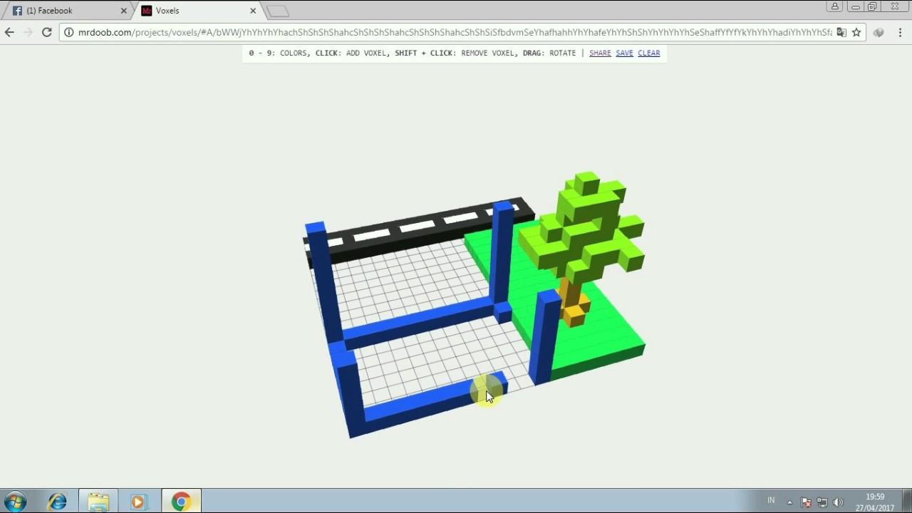 Let's Play voxel Mr doob! Free Minecraft