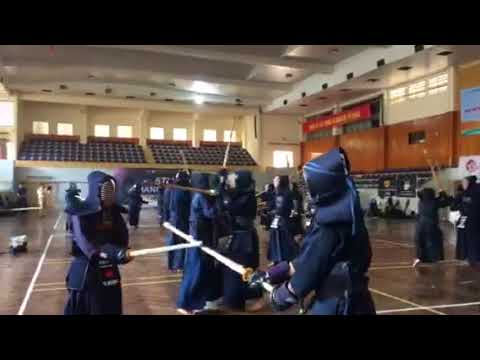 5Th Hanoi Open Kendo Championships - October 2017 - Warming up part 1