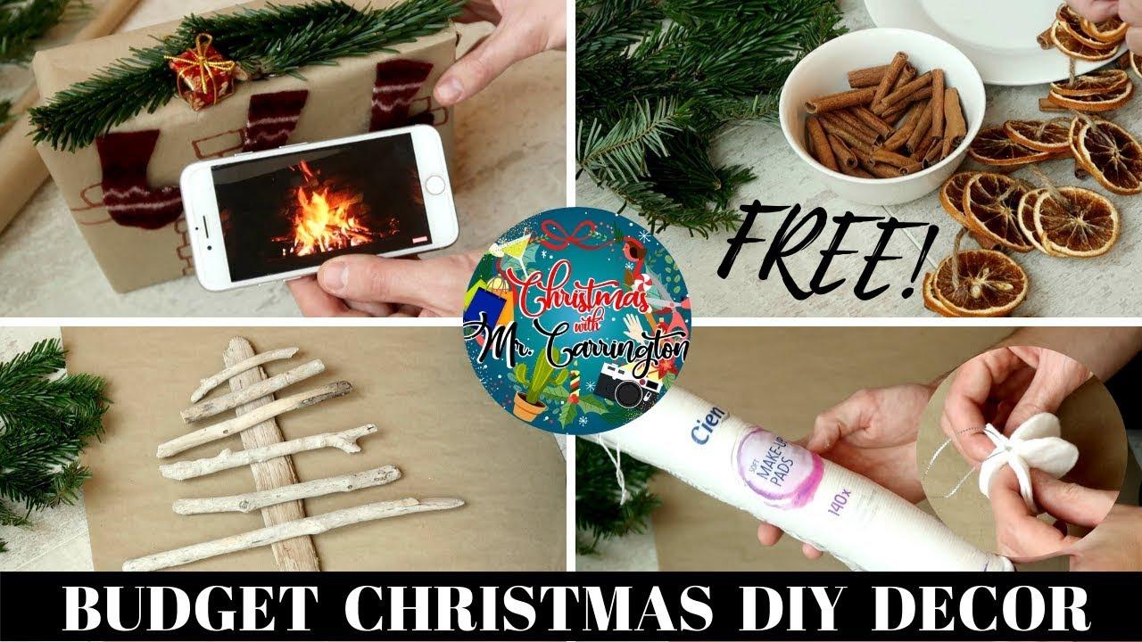 FREE Or BUDGET DIY CHRISTMAS DECOR HACKS
