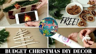 FREE or BUDGET DIY CHRISTMAS DECOR HACKS | EASY LAST MINUTE DIY CHRISTMAS DECORATIONS
