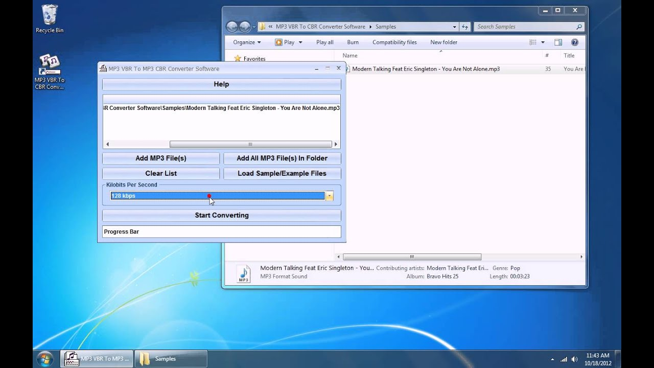 How To Use MP3 VBR To CBR Converter Software