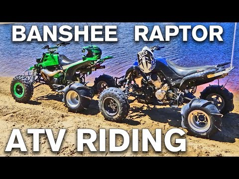 BANSHEE RAPTOR ATV RIDING ADVENTURE IN THE DUNES EXPLORING THE SAND HILLS BY HAUSER HORSFALL BOXCAR