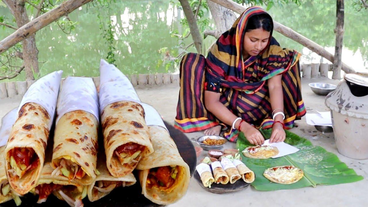 village style eggroll recipe!!বাড়িতে তৈরি করুন অল্পসময়ে খুব কম খরচে  দুইরকম এগরোল রেসিপি
