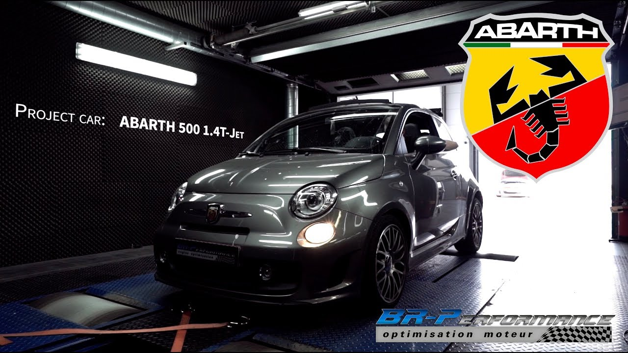 Abarth 500 1.4 T-jet 135hp Stage 1 By BR-Performance - YouTube