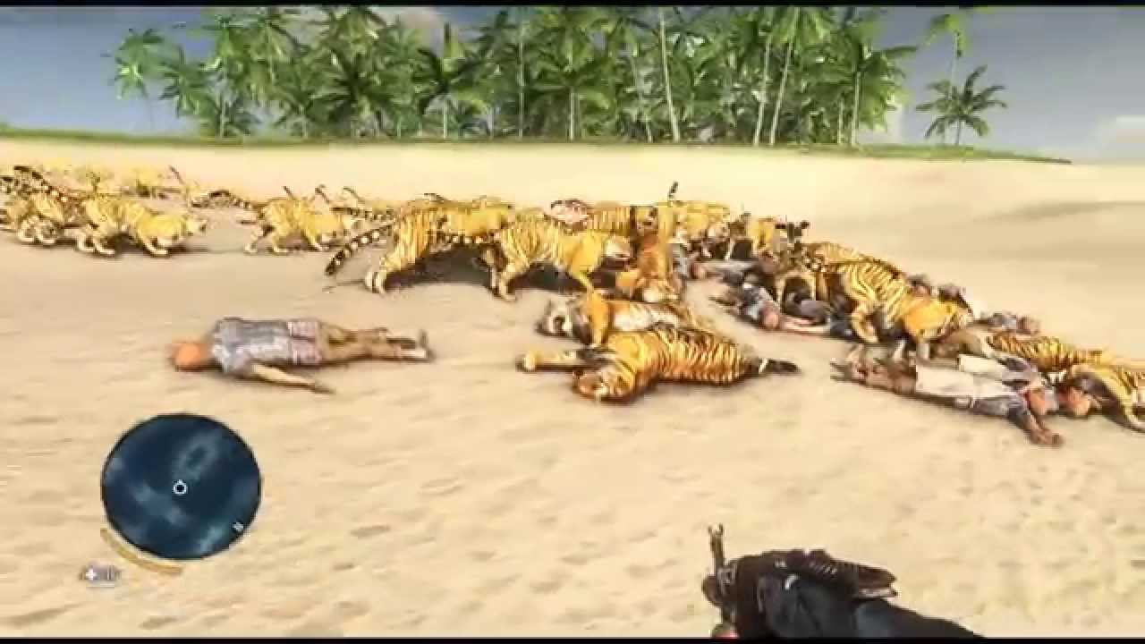 Far Cry 3 120 Tigers Vs 100 Bartenders Youtube