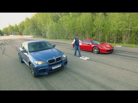 Ferrari 458 Italia vs BMW X6M PP-Performance vs Audi RS6 Evotech and BMW X6M Evotech