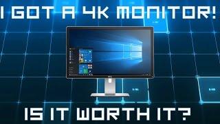 i Got a 4K Dell 2415Q Monitor!  Is it Worth It?
