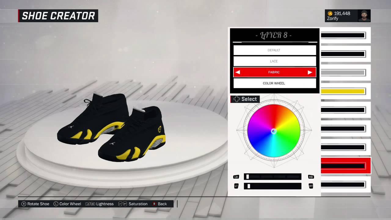 ba26c67bcb5 NBA 2K17 Shoe Creator - Air Jordan 14 Low Custom