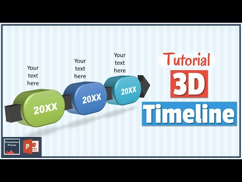 How to Create 3D Timeline Diagram  3D PowerPoint Series - YouTube