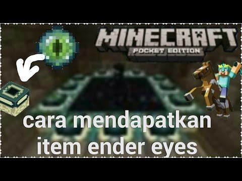 Cara mendapatkan ender eyes block di minecraft pe v16.
