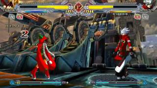 BlazBlue Continuum Shift - Taokaka Gameplay