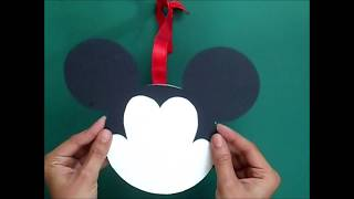 DIY Mickey Mouse Wall Hanging Idea | DIY Kids Craft | CD Craft | Best Out of Waste