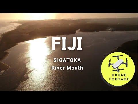 Fiji Travel -  Sigatoka River-mouth Drone Footage