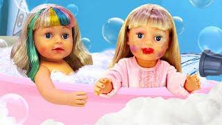 Прически и одежда для БЕБИ БОН Эмили - Все серии подряд про салон красоты. Видео куклы Baby born