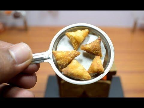 MINI FOOD - ONION SAMOSA I ASMR I INDIAN RECIPE I MDC