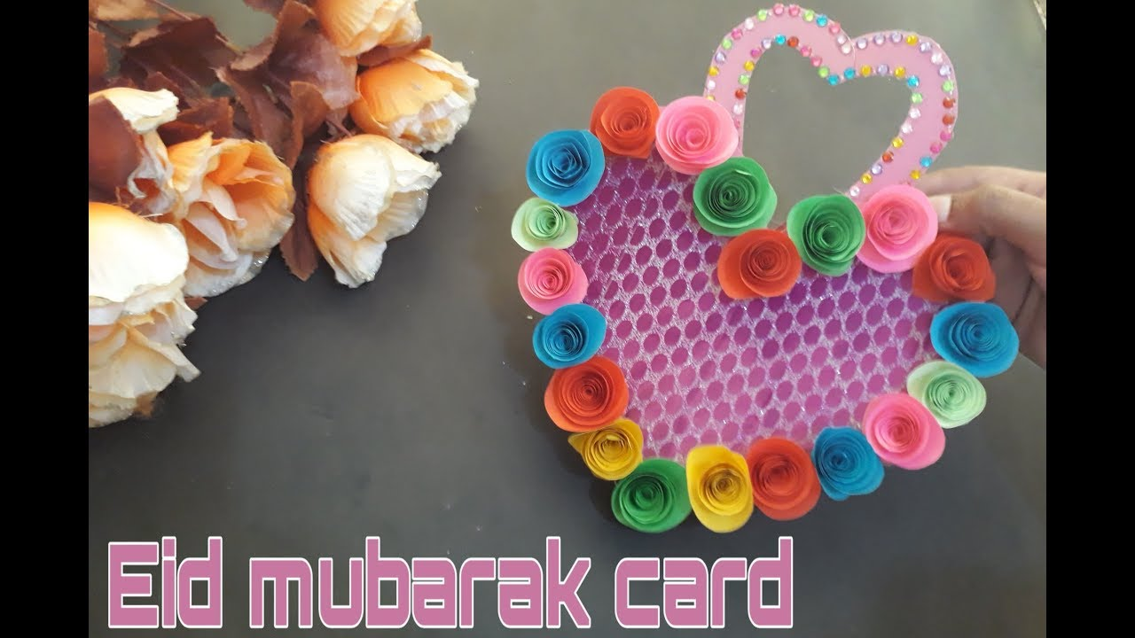 how to make happy eid mubarak cardhandmade eid mubarak
