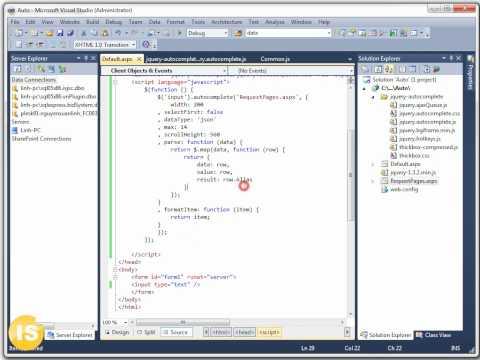 Học lập trình web: Autocomplete asp.net (isjsc)