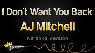 AJ Mitchell - I Don't Want You Back (Karaoke Version)