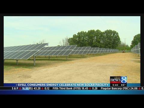 Solar plant at GVSU ready to power homes