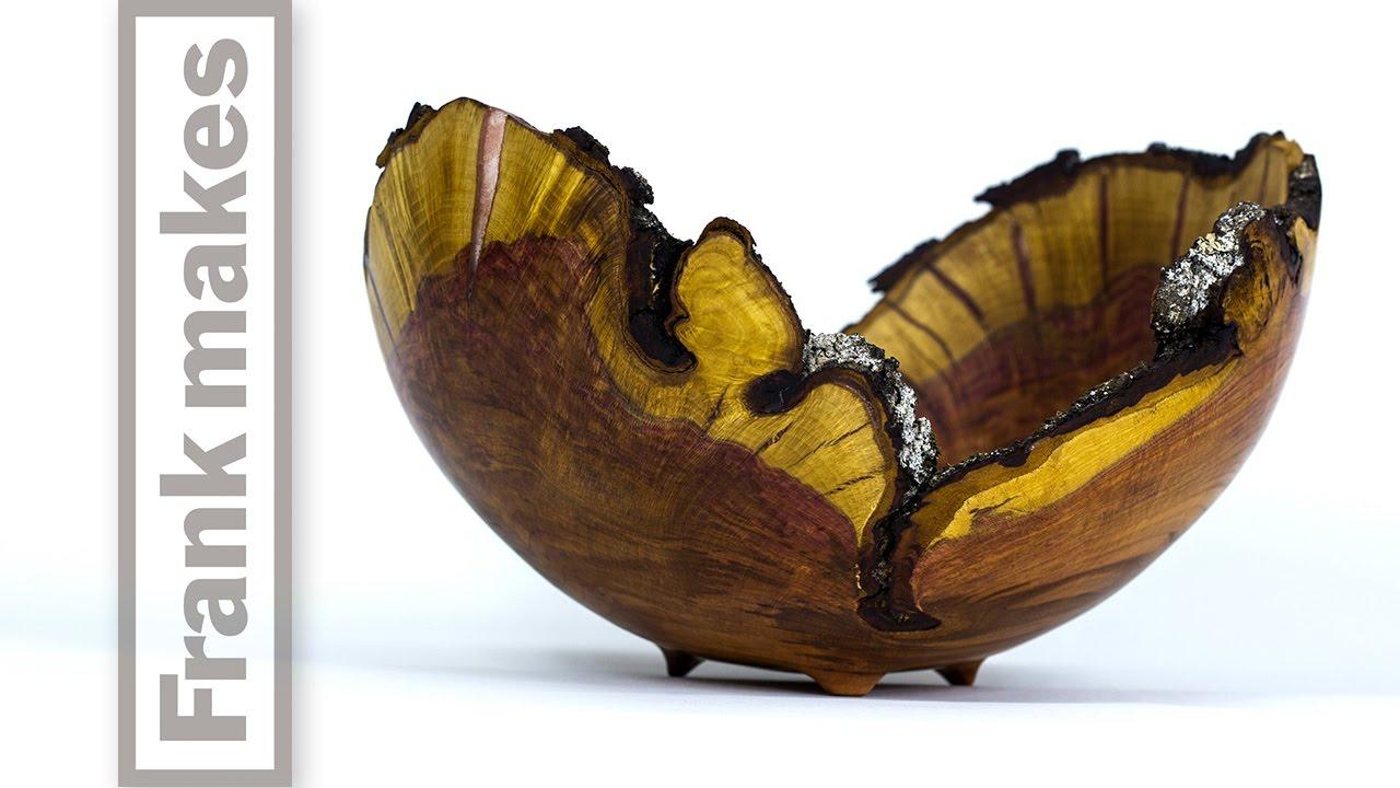 Wood Turned Plum Bowl
