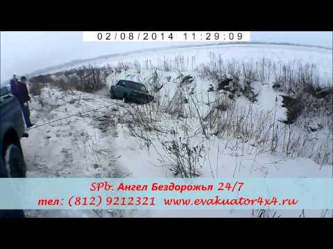 Эвакуация автомобилей из кюветов и канав