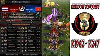 Clash of kings : K1962 -K 247  Kingdom Conquest #ClashOfKings#CoKVIBE