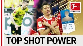 Top 10 players highest shot power world cup 2018 - ea sports fifa 18 - reus, lewandowski & more