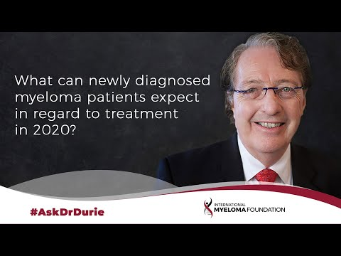What can newly diagnosed myeloma patients expect in regard to treatment in 2020?