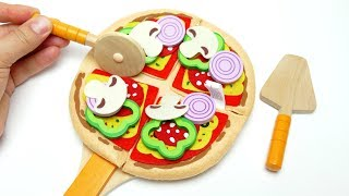 Cooking Toys For Kids Pizza Felt Kitchen Playset