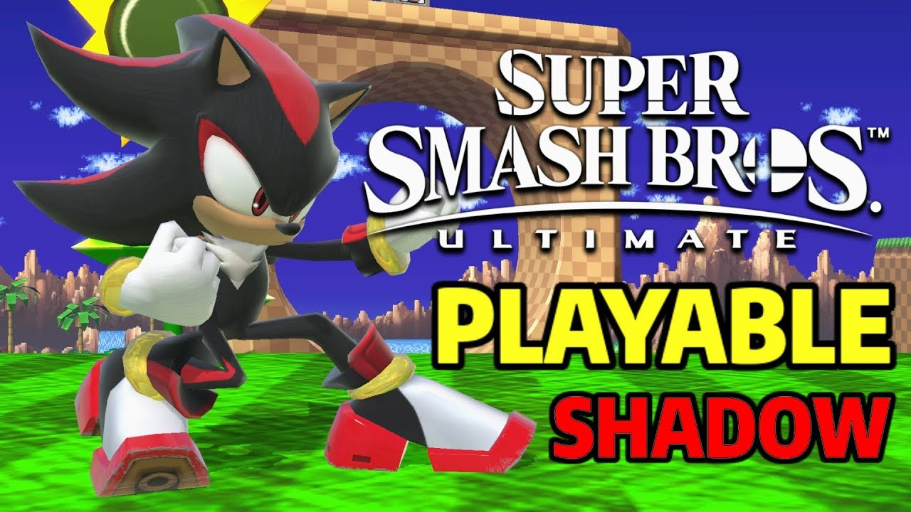 Playable Shadow (Sonic Model Swap) - Super Smash Bros  Ultimate Mods