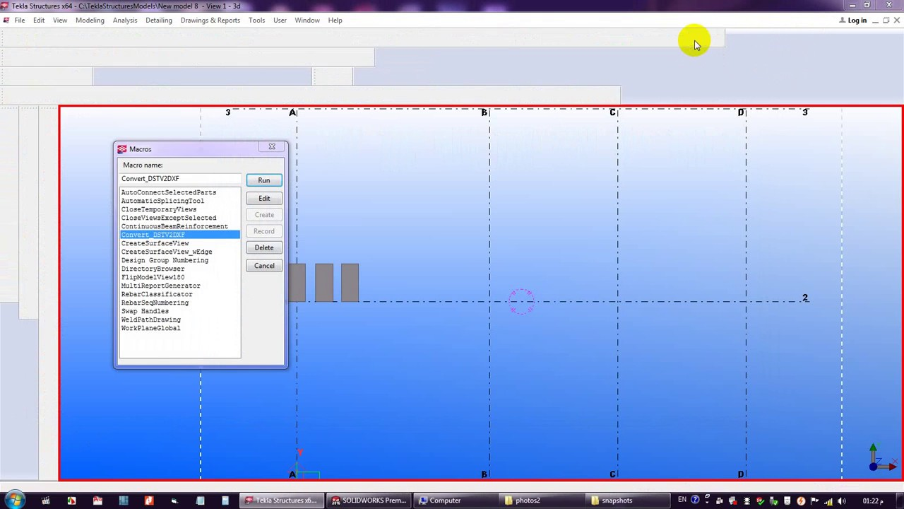 CONVERT NC FILE TO DXF FILE BY TEKLA STRUCTURE (دروس ...