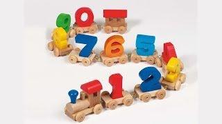 Деревянный паровозик для изучения цифр:)