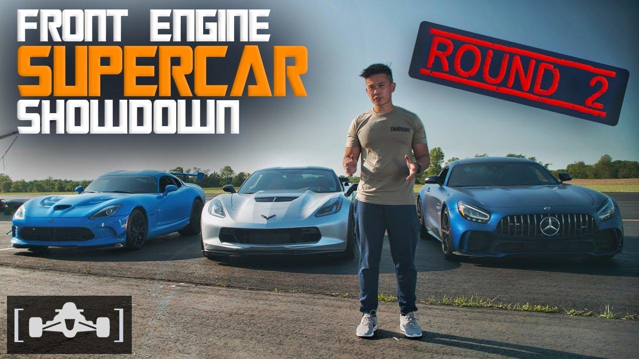 Dodge Viper vs. Corvette C7 Z06 vs. Mercedes AMG GT-R | Front Engine Supercar Showdown [PART 2]