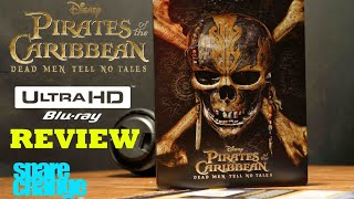 Pirates of the Caribbean: Dead Men Tell No Tales 4K/3D, Steelbook Bluray Review Unboxing Dolby Atmos 2017 Video