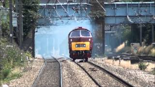 hd class 52 western d1015 clags like hell through west ealing working the 0z52 20 8 13
