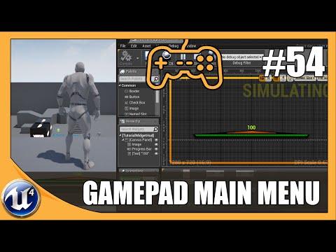 Gamepad Inputs Main Menu - #54 Unreal Engine 4 Beginner Tutorial Series