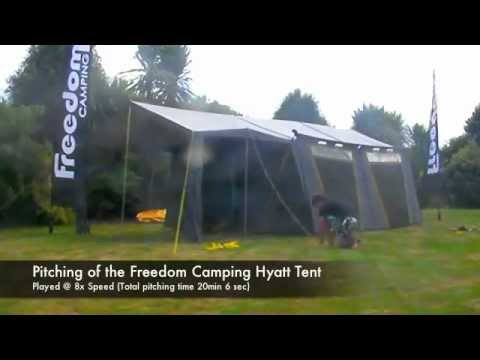 Pitching the Freedom C&ing Hyatt Tent & Pitching the Freedom Camping Hyatt Tent - YouTube