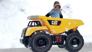 Blippi Playing in the Snow with Dump Truck Inspired | Blippi Girl