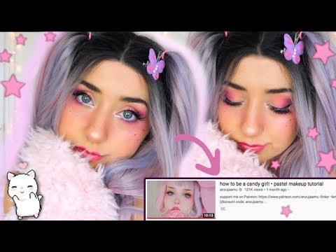 Following a Pastel Kawaii Candy Girl Makeup Tutorial thumbnail