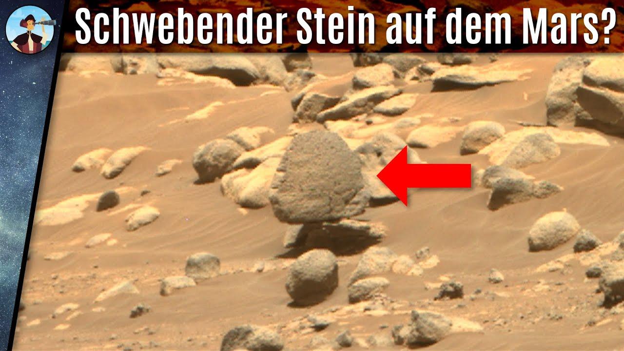 Schwebender Stein auf dem Mars? Was passiert hier?