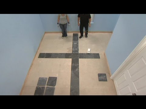 Laying a New Tile Floor: Where to place first tile on floor - YouTube