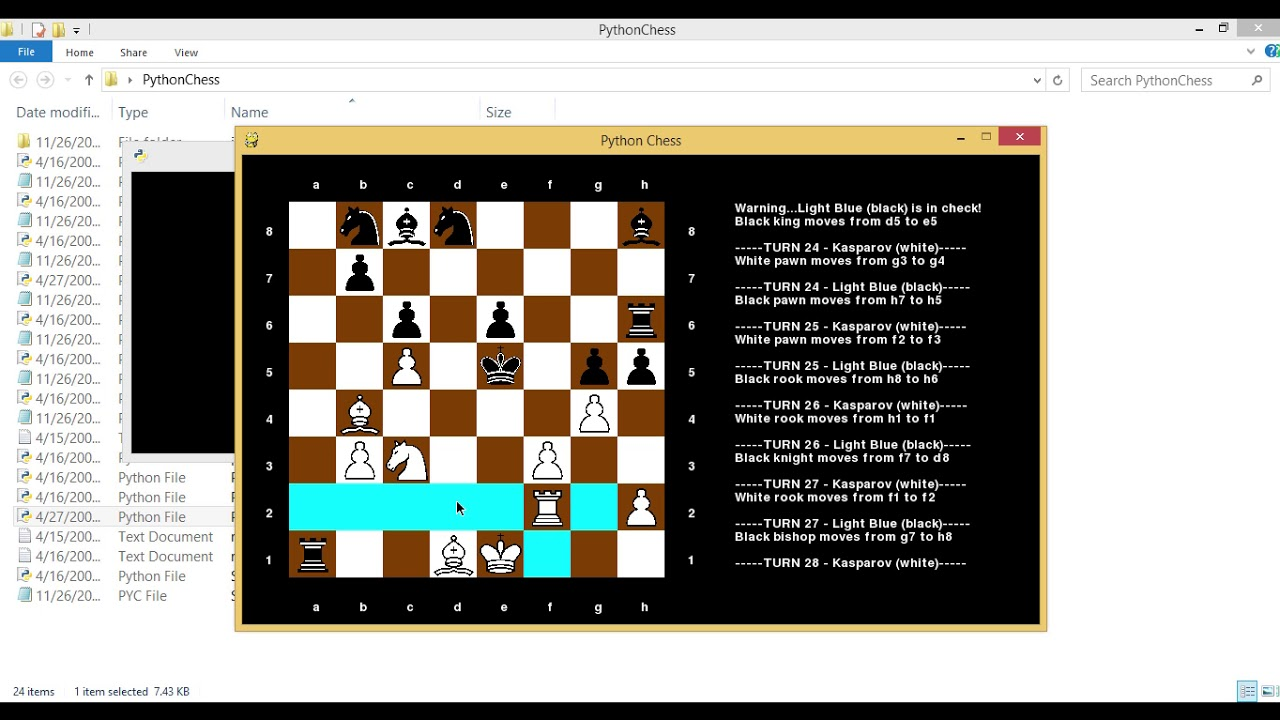 chess game create in python project