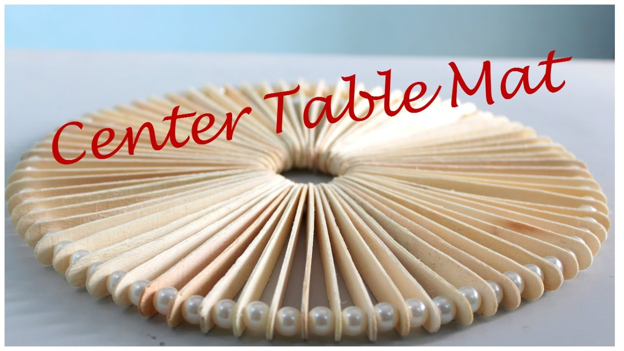Diy Drawing Table How To Make A Center Table Mat From Ice Cream Sticks