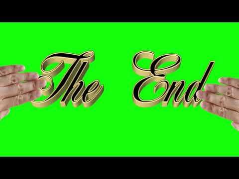 THE END 9 ШТ. Футаж. Хромакей. Зелёный экран. Chroma Key. Green Screen.