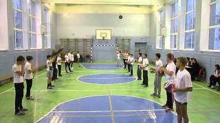 Замалдинов Ф.А. ведет урок физкультуры (волейбол) на конкурсе ''Учитель года - 2014'' (день 2) №2