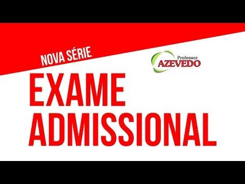 Видео O que é exame admissional