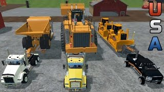 FARMING SIMULATOR 2015 | HAULING AMERICAN MINING EQUIPMENT