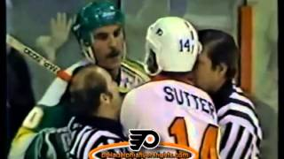 Nov 17, 1983 Steve Payne vs Rich Sutter Roughs Minnesota North Stars vs Philadelphia Flyers