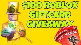 $100 ROBLOX GIFTCARD GIVEAWAY !!!