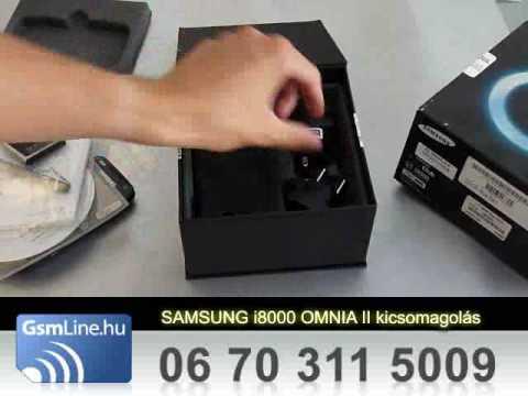 Samsung i8000 Omnia II kicsomagolas | www.GsmLine.hu